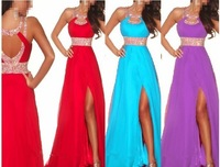 New  Bridesmaid Dress red blue purple Free Shipping 2013 wholesale retail Sweetheart Prom Gown size:Custom