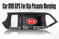 "7"" In Dash Car DVD Player GPS Navigation for Kia Euro Star Picanto Morning 2011-2012 with TV BT Free Map RDS Stereo Video Radio"