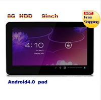 Cheapest 9 inch Q88 tablet pc android 4.1 Capacitive Screen 512M 4GB WIFI allwinner a13 tablet free shipping
