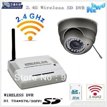 2.4g wireless receiver DVR and wireless camera