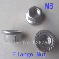 M8 Hex Flange Nuts Stainless Steel 304 DIN6923 Metric 100pcs/lot