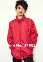 Free shipping!2013 new Outdoor sports men women waterproof UV proof ultra-thin raincoat,easy take,4colors,1pc