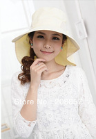 New Fashion Woman Khaki Outdoor Anti-UV Protection Sun hat Packable Vacation Hiking Cap