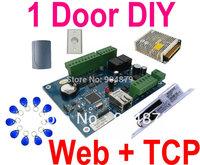Web IP Control+ TCP/IP Single 1 Door+1 Wiegand ID reader Door Access controller Panel system+Power+Exit Button+Electro Bolt Lock