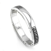 2013 trendy style men's women's great wall pattern bracelet bangle heavy bangle free shipping