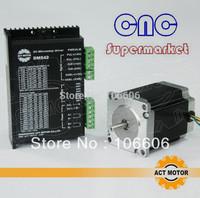 6&4 lead,76mm 23HS8630 &23HS8430    57 stepper motor + cnc driver DM542 24V-50V/4A