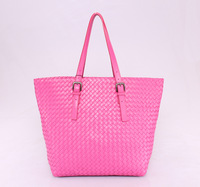 2013 New Fashion High Quality Famous Designer Brand Genuine Leather Women Weave Shoulder Bag Free Shipping