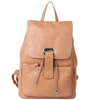 free shipping First layer of cowhide backpack male Women preppy style casual genuine leather travel backpack