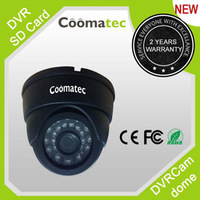 Dome Color IR Night Vision CCTV Security Camera w/ Micro SD TF Card Slot Cam DVR