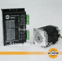 free shipping motor, 6&4 lead,76mm 23HS8630  57 stepper motor + cnc driver DM542 24V-50V/4A