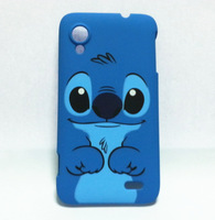 plastic cartoon stitch hard back case cover fit for Lenovo S720 blue dog protector hard shell