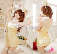Free Shipping+Lowest price New Sexy Sleepwear Sexy Lingerie Costume Free Size Bunny installed