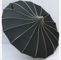2013 new fashion single solid color long-handled umbrella anti-uv vintage royal wind pagoda female  umbrella free shipping