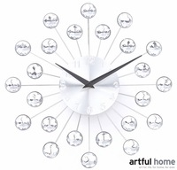 Small diameter 35 mantianxing wall clock sparkling diamond clock wall decoration mute fashion