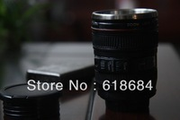 Hot selling 2pcs/lot Stainless Steel Mini Portable Camera Lens Shot Glass Keychain a Cup Creative