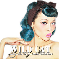 Wild cat vintage all-match brown bow hair band