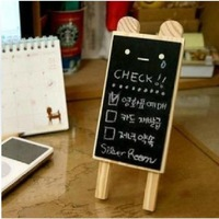 10pcs 2013 novelty hot Bulk Korean design Mini wooden Blackboard Cute chalkboards For Wedding Party Christmas Decorations