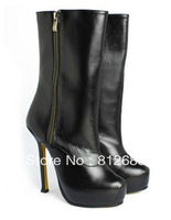 2013 Sexy lady high heel platform boots Genuine leather women's calf boots  N-2012784