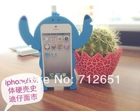 New Arrival Fashion Cute 3D Lilo Stitch Hard Back Case For iPhone 5 5G Case, Retail, Wholesale, Free Drop Shipping