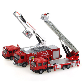 kids toy / adult toy Alloy engineering car / Fire truck set 3in1 ;High simulation, fine 1:50 Nice Gift / display / Collection