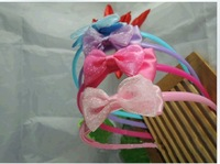 Free shipping Korean jewelry lace bow hair bands children hair accessories jewelry girl accessories