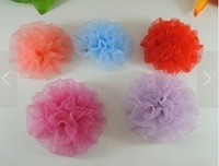 Free shipping 20pcs/lot Cute Yarn Flower Hair clips hair accessories handmade baby Girl's hair bows Boutique Barrette