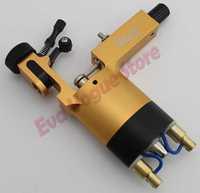 NEDZ Gold Color Rotary Tattoo Machine Gun Stigma Powerfull RAC Clip Cord Dampening Micro TZ  Aluminium Alloy Tattoo Machine Gun