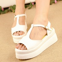 Free shopping New arrival hasp open toe platform shoes wedges platform gladiator sandals female shoes