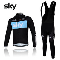 2012 sky fleece suspenders ride service long set autumn and winter spaghetti strap bicycle clothing