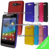 High Quality Black Hybrid Plastic Hard Case Cover For Motorola RAZR D3 Free Shipping FEDEX DHL EMS CPAM SGPAM