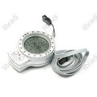 1pcs New 4in1 Digital Compass Clock Stopwatch Thermometer C/F Blue Backlight ZD-2008