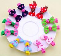 wholesale mix  color  dot Cute baby hair clips 4.5*2.5cm
