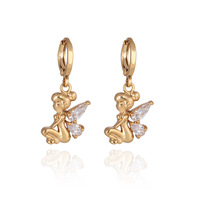 ER0309 New 2013  Fashion Jewelry  Drop Earrings 18K Gold Plated Inlay Zircon Crystal Dangle Earrings Beads Pearl Hot Selling
