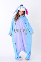 New Adult Unisex Kigurumi Pajamas Cosplay Onesies Japan Anime Costumes Cute Eeyore Donkey Cartoon Animal Pyjamas For Women