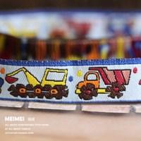 "Zakka handmade accessories ribbon laciness width  5/8"" 16mm Woven Jacquard ribbon truck"