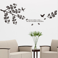 FREE SHIPPING Wall stickers romantic lovers rustic cartoon wallpaper jm7190