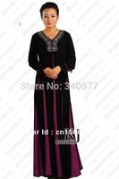 Muslim Cotton Silk Dress,Abayas Dubai,Fashion Jilbab,Long Dress,Arabic Clothing For Women,Free Shipping