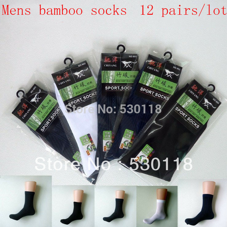 Free Shipping Mens Socks Bamboo Fiber For Ultra-thin Male Breathable Socks color mix system chooses randomly 12 pairs/lot(China (Mainland))