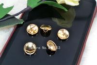 Free shipping  11mm Metal button button button circular fashion exquisite children rose gold