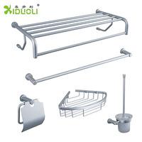 Space aluminum bathroom set towel rack basket towel rack toilet cup holder paper towel holder xdl-32t