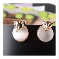 2013 Fashion jewelry,Artificial opal stud earrings for women,Gold plated lowrie head stud earrings,Europen style E480