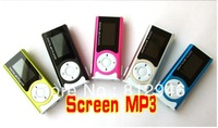 HOT! Free shipping,screen mp3 with card slot ,support micro SD/TF card,5 colors to choose,5pcs/lot