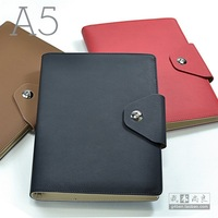Commercial metal buckle fashion 8.5 loose-leaf notebook a5 Medium notebook logo