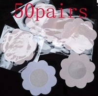 Free Shipping 50 Pairs Satin Pasties Breast Nipple Petal Cover New