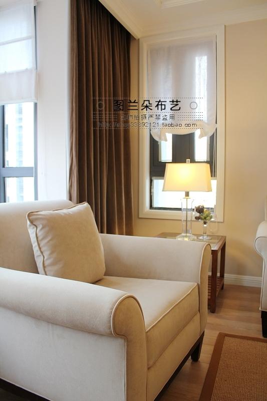 Plate type american style fabric roman shade woven thread roman blinds(China (Mainland))