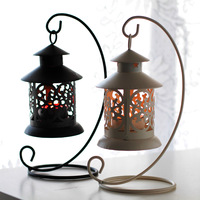 Fashion mousse iron lantern mousse candle mousse home accessories
