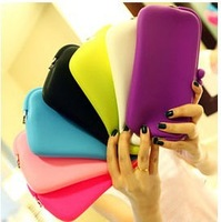 new 2013 silicone purse Cosmetic bag big glasses box cosmetic bag card storage purses
