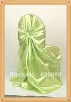 Light green self tie chair cover/banquet chair cover/wedding chair cover/spandex chair cover/pillowcase chair cover