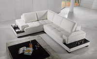 2013 Modern Recliner sofa Set made with genuine leather Corner Sofa with LED light storage sofa set living room furniture LC9111