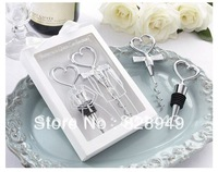 """Free shipping 8PCS/LOT wedding favor gift """"Cheers to a Great Combination"""" Wine Set in white box to USA/ CANADA/ Mexico"""
